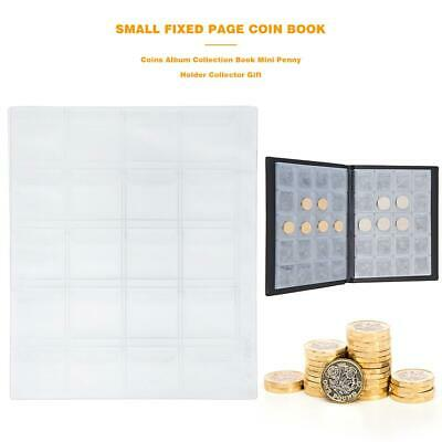 Coins Album Collection Book Mini Penny Holder Collector Gift (200 Grids)