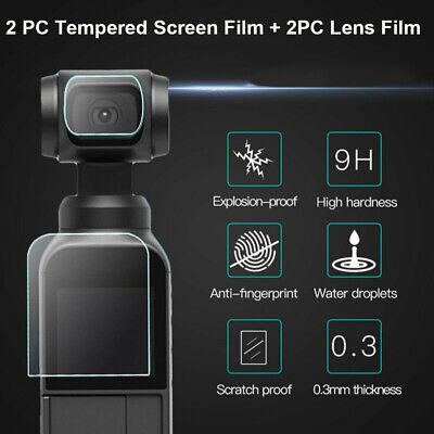 For DJI OSMO Pocket Camera 4 PCs Tempered Glass Lens Film Screen Protector Clear