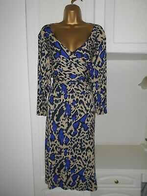 Smart Unlined Dress With Stretch By David Emanuel Nwt Size Uk 24 Bust 50""