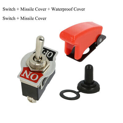 5x Heavy Duty Toggle Switch Flick 12V ON//OFF Car Light SPST Missile Water Cover