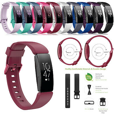 For Fitbit Inspire Replacement Silicone Wristband Strap Watch Band Complete Kit