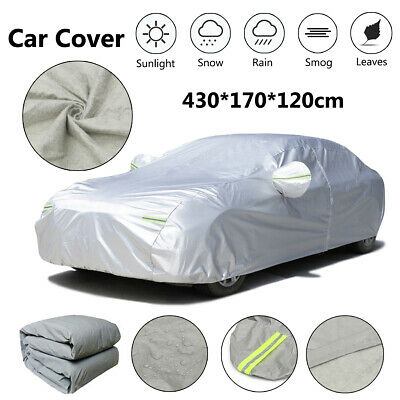 Heavy Duty S 2 Layer Full Car Cover Waterproof Breathable UV Protection Outdoor
