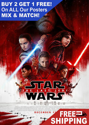 Star Wars The Last Jedi Movie Giant Poster - A5 A4 A3 A2 A1 HUGE Sizes
