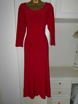 Smart Unlined Dress With Stretch By Nina Leonard In Vg Con Size Uk 16  Bust 42""