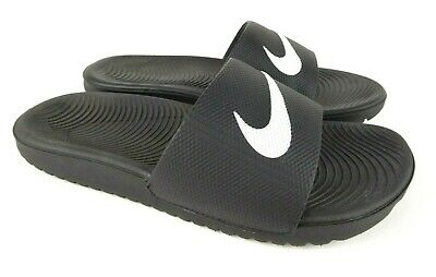 ff50fd6de5 NIKE KAWA SLIDE Little Kids 819352-100 White Black Slide Sandals ...
