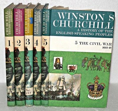 A History Of The English Speaking Peoples, Winston Churchill, Vol 1-5, HB. 1965