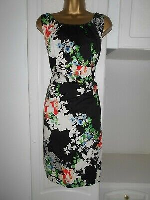 Lined Cotton Dress With Some Stretch By Wallis Nwt Of £40 Size Uk 14 Bust 38""