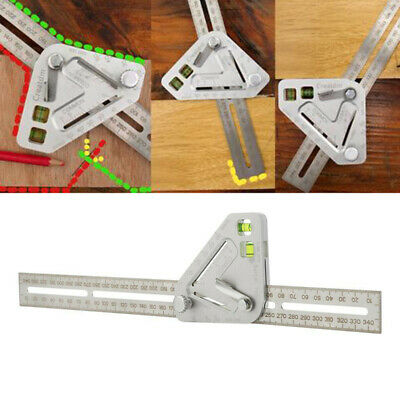 Multi Function Angle Ruler Portable Woodworking Measuring Protractor Foldable