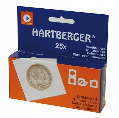 Lindner 8320225 Hartberger Coin Holders Self Adhesive, 22,5 MM