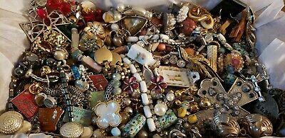 Vintage Mod Jewelry Lot Brooch Earrings Necklaces Rhinestone Some Signed +