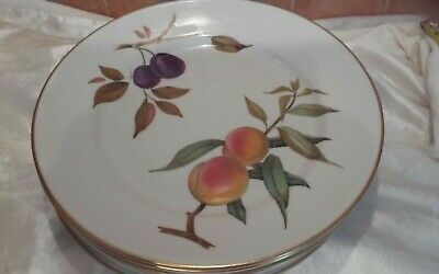 Royal Worcester Evesham Vale Dinner Plates-set of six