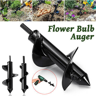 17'' Auger Spiral Drill Bit Yard Garden Drill Planting Planter Earth Hole Digger