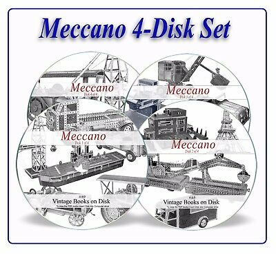 Meccano Magazines & Manuals 1200 on DVD Plans Leaflets Building Instructions A9