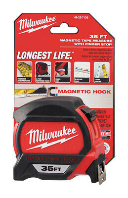 Milwaukee  35 ft. L x 1.83 in. W Premium  Magnetic Tape Measure  Red  1 pk