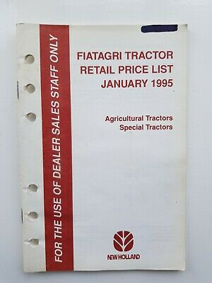 Fiat Tractor Price List January 1995