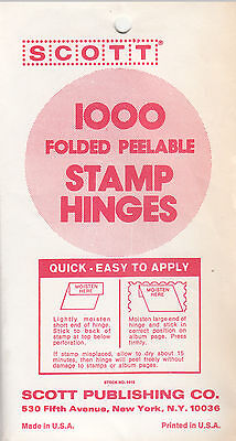 1 Pack Of Scott Stamp Hinges Made By Dennison For Scott 1000 Folded Lowest Price