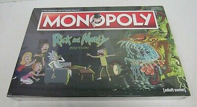 NEW Rick And Morty Monopoly Board Game Adult Swim Sealed - FIS S9