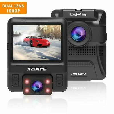 AZDOME GS65H Dual Lens Car DVR Dash Cam FHD 1080P Rear 720P Camera Built-in GPS