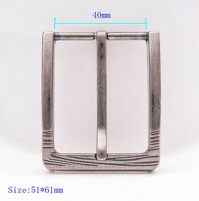 "1-1/2"" (40 mm) Nickel Free Single Prong Rectangular mens Belt Buckle Replacement"