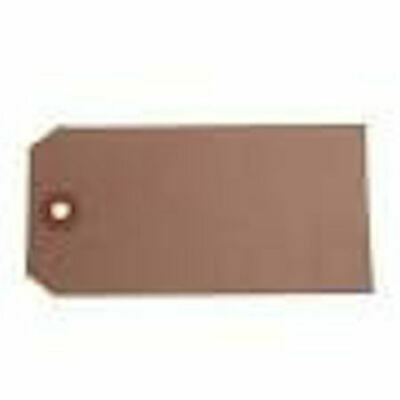 Manila Brown Buff unStrung Tags Hardware Labels Retail Luggage tags  134x67mm