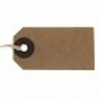 Manila Brown Buff Strung Tags Hardware Labels Retail Luggage tags  96x48mm