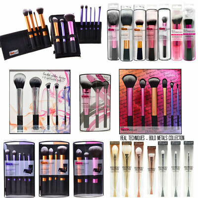 New Real Techniques Makeup Brushes Powder Blush Foundation Set Sponge Puff Set