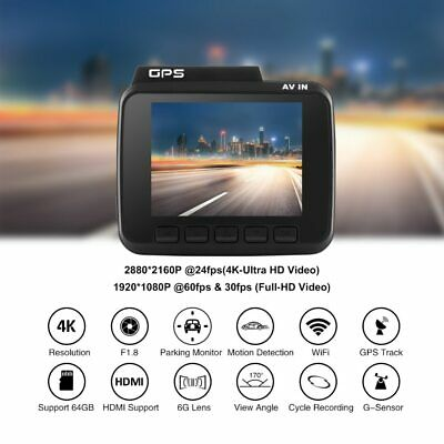 AZDOME GS63H 4K Front Camera+Built in GPS+WiFi+ Night Vision Dash Cam
