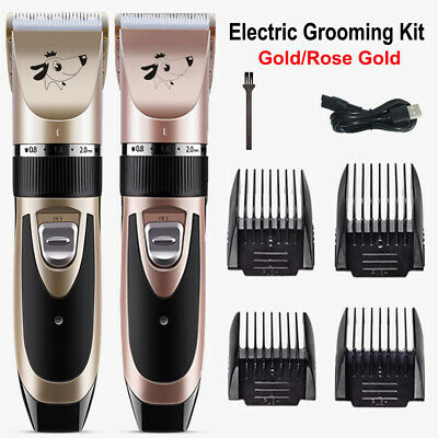Low Noise Electric Cordless Pet Dog Cat Grooming Clipper Hair Trimmer Shaver Set