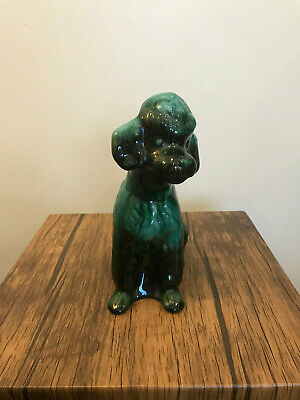 Blue Mountain Pottery Ceramic Animal Dog Poodle Canadian Green Black