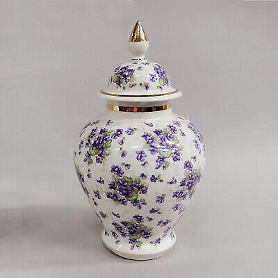 Bavaria Schumann Arzberg Covered Jar Floral Decor Urn DECKELVASE