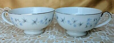 Set of 2 Vintage SEYEI Fine China Japan Shirley 2159 Tea Cups Atomic mcm *