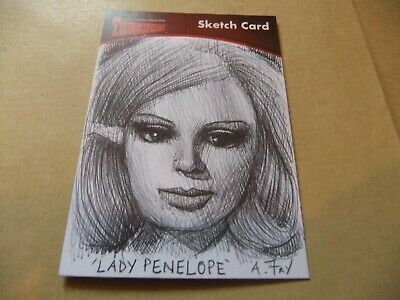 GERRY ANDERSON THUNDERBIRDS Series 2 A FRY SKETCH CARD UNSTOPPABLE LADY PENELOPE