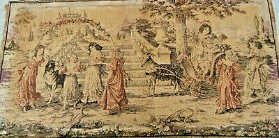 19c Antique Belgian / French Tapestry weave celebrated youth  is so beautiful