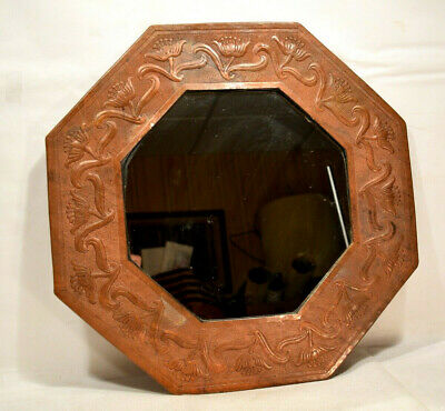 Ramon Ramirez Hammered Copper Arts & Crafts Mirror