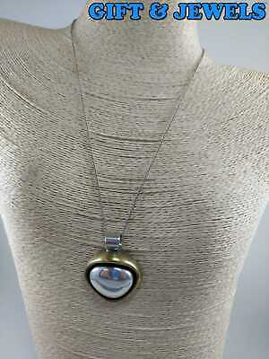 LATON SIGNED STERLING SILVER NECKLACE 18'', 17.2 G RARE VINTAGE #ak714