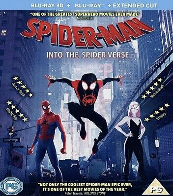 Spider Man Into The Spider Verse Full Hd 3D Blu-Ray Disc