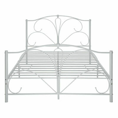 Panana Bed 4FT6 DOUBLE METAL BED FRAME WHITE BEDROOM FURNITURE Peacock