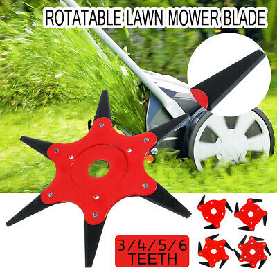 3/4/5/6 Teeth Universal 180° Metal Blade Trimmer Head Lawn Mower Grass Brush Cut