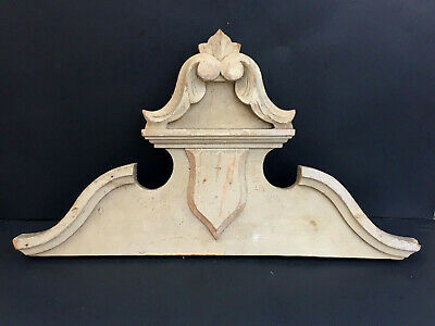 Antique French Wood Furniture Door Window Pediment Architectural Salvage Molding