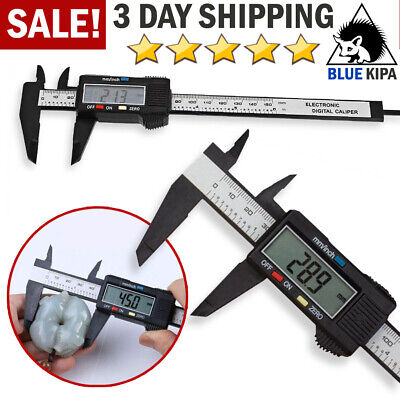 Digital Caliper Electronic Gauge Carbon Fiber Vernier Micrometer Ruler 150mm 6""