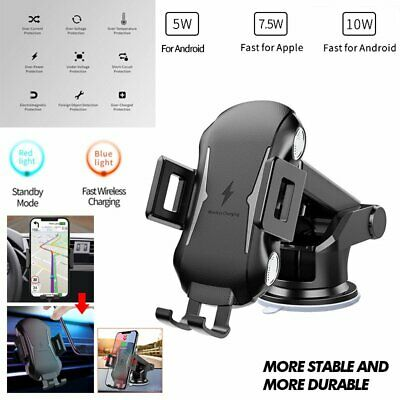 FAST QI WIRELESS Car Charger Dashboard Mount Holder For Samsung