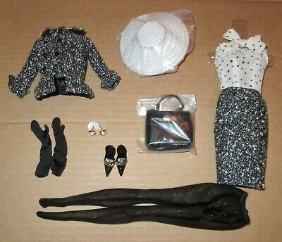 Black & White Tweed Suit Silkstone Barbie Doll Complete Outfit