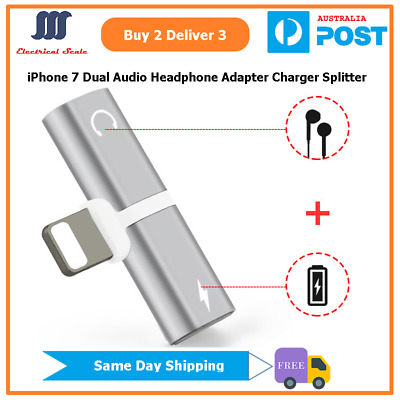 iPhone Dual Lightning Splitter Adapter for Charging and Playing Audio Outputs