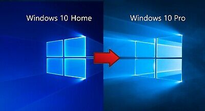 Microsoft Windows 10 Home auf nach Professional Pro Prof Update Upgrade Code x64