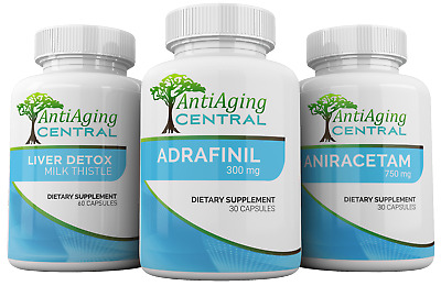 Focus & Energy Bundle - A Stack of Adrafinil, Aniracetam, and Liver Detox