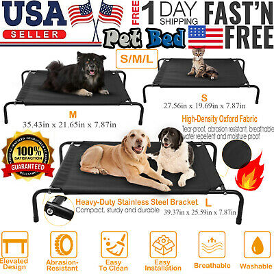 Elevated Dog Bed Lounger Sleep Pet Cat Raised Cot Hammock for Indoor Outdoor NEW