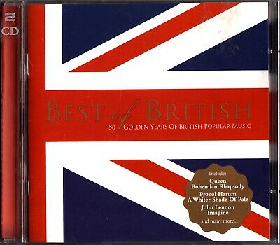 The Best Of British 2-CD 50 Golden Years Queen/Kinks/Move/Zombies/John Lennon