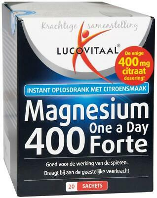 Lucovitaal Supplement Magnesium 400 Forte One A Day - 20 Sachets