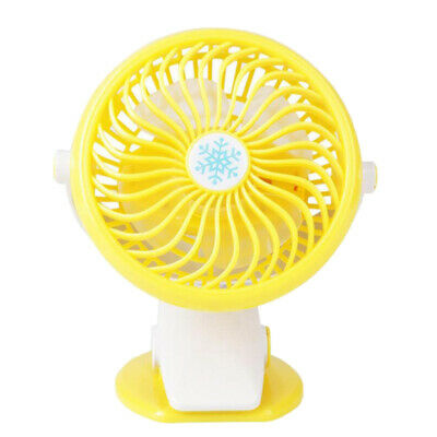 Clip-on Mini USB Desk Fan Travel Summer Small 360° Cooler Rechargeable