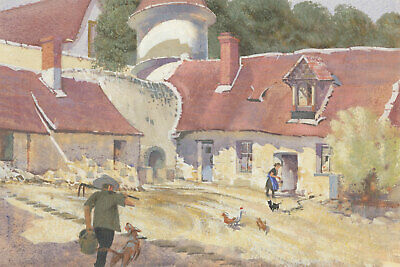 Laurence H.F. Irving (1897-1988) - Mid 20th Century Gouache, A French Farmyard